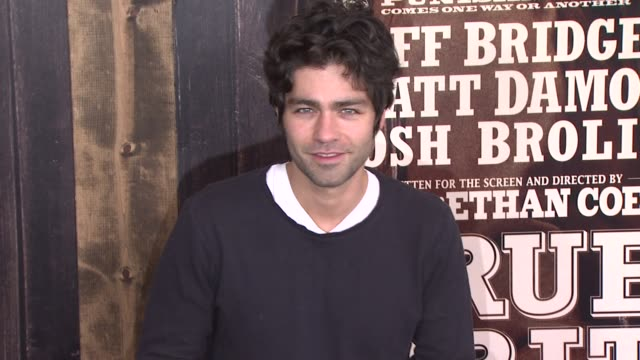 Adrian Grenier at the 'True Grit' New York Premiere at New York NY