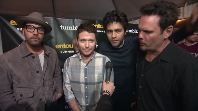 INTERVIEW Adrian Grenier Jeremy Piven Jerry Ferrara Kevin Connolly and Kevin Dillon at the Tumblr FUCK YEAH Party Sponsored by Entourage in Austin TX...