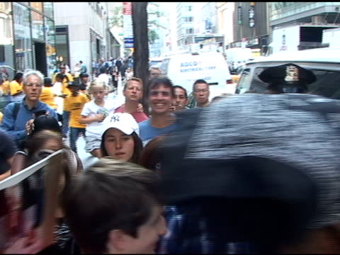 Adrian Grenier makes his way through fans as he departs the 'Today Show' in New York 07/19/11