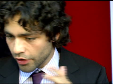 adrian grenier on comparing the film to 'entourage' meryl streep's character and his own character at the 'the devil wears prada' new york premiere... - the devil wears prada film title stock videos and b-roll footage