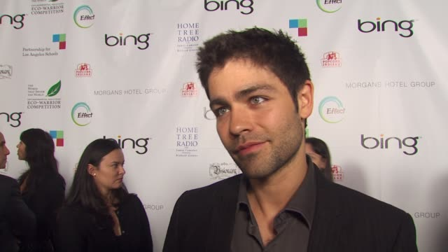 Adrian Grenier on the event on his advice to others about being green and on what he does at home to be green at the James Cameron Hosts StarStudded...