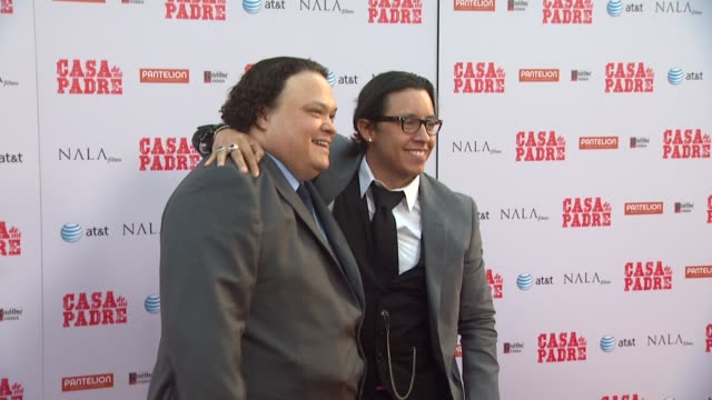 adrian martinez efren ramirez at casa de mi padre los angeles premiere on 3/14/12 in los angeles ca - padre stock videos & royalty-free footage