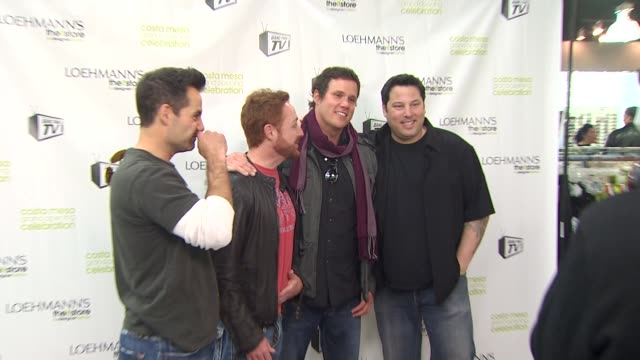 adrian pasdar, scott grimes, bob guiney, greg grunberg at the grand opening celebration of loehmann's costa mesa featuring band from tv at costa mesa... - costa mesa stock videos & royalty-free footage