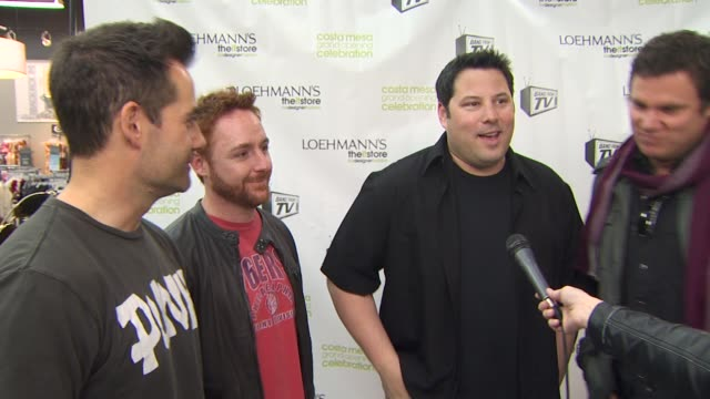 adrian pasdar, scott grimes, greg grunberg, jesse spencer, bob guiney on the event, how rock and roll compares to their tv jobs, how the band... - costa mesa stock videos & royalty-free footage