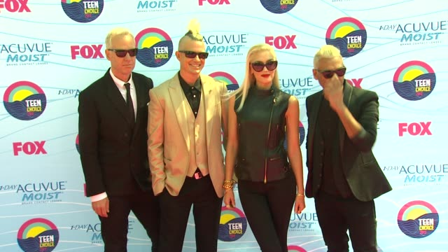 Adrian Young Gwen Stefani Tony Kanal Tom Dumont No Doubt at 2012 Teen Choice Awards on 7/22/12 in Los Angeles CA