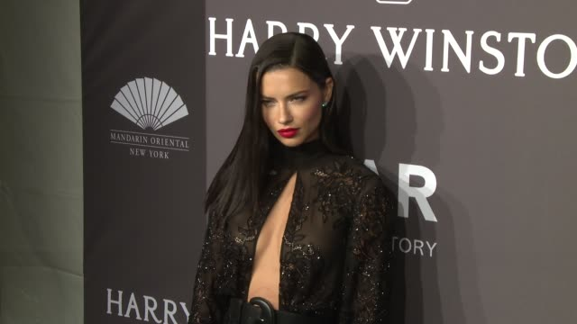 vídeos de stock, filmes e b-roll de adriana lima at 19th annual amfar new york gala at cipriani wall street on february 08 2017 in new york city - adriana lima