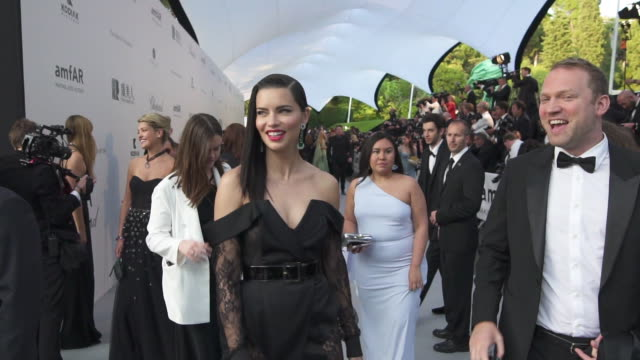 mo adriana lima at the amfar cannes gala 2019 arrivals at hotel du capedenroc on may 23 2019 in cap d'antibes france - amfar stock videos & royalty-free footage