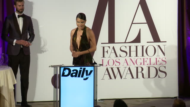 speech adriana lima at the daily front row fashion los angeles awards 2019 in los angeles ca - routine stock videos & royalty-free footage