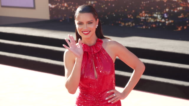 adriana lima at the once upon a time in hollywood premiere at tcl chinese theatre on july 22 2019 in hollywood california - gif file format extension stock videos & royalty-free footage