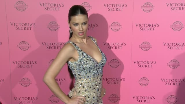 vídeos de stock, filmes e b-roll de adriana lima at the victoria's secret 2011 'swim' collection launch at west hollywood ca - adriana lima