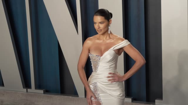 adriana lima at vanity fair oscar party at wallis annenberg center for the performing arts on february 9, 2020 in beverly hills, california. - vanity fair oscar party stock videos & royalty-free footage