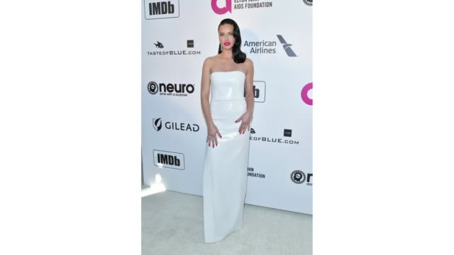 Adriana Lima attends the 27th Annual Elton John AIDS Foundation Academy Awards Viewing Party Celebrating EJAF and The 91st Academy Awards on February...