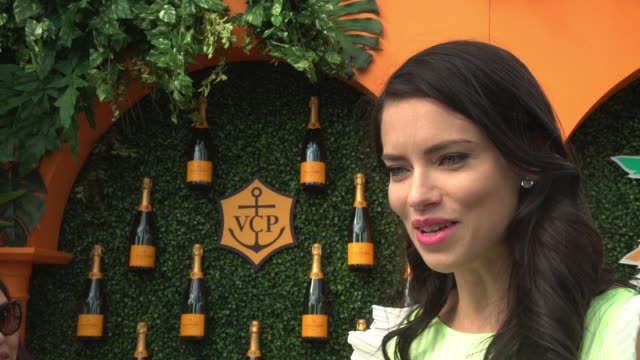 vídeos de stock, filmes e b-roll de interview adriana lima on the importance of the event at the third annual veuve clicquot carnaval at museum park on march 4 2017 in miami florida - adriana lima