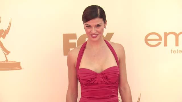 adrianne palicki at the 63rd primetime emmy awards arrivals part 1 at los angeles ca - adrianne palicki stock videos and b-roll footage