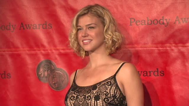 adrianne palicki at the 66th annual peabody awards press room at waldorf astoria in new york new york on june 4 2007 - adrianne palicki stock videos and b-roll footage