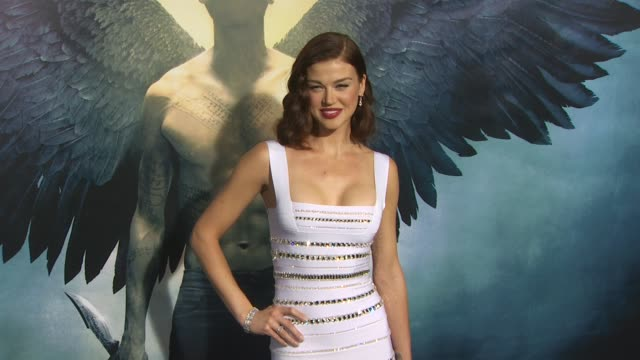 adrianne palicki at the 'legion' premiere at hollywood ca - adrianne palicki stock videos and b-roll footage