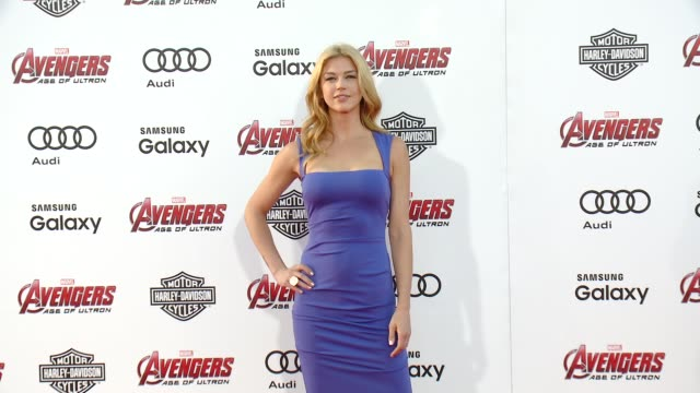 adrianne palicki at the world premiere of marvel's avengers age of ultron at dolby theatre on april 13 2015 in hollywood california - adrianne palicki stock videos and b-roll footage