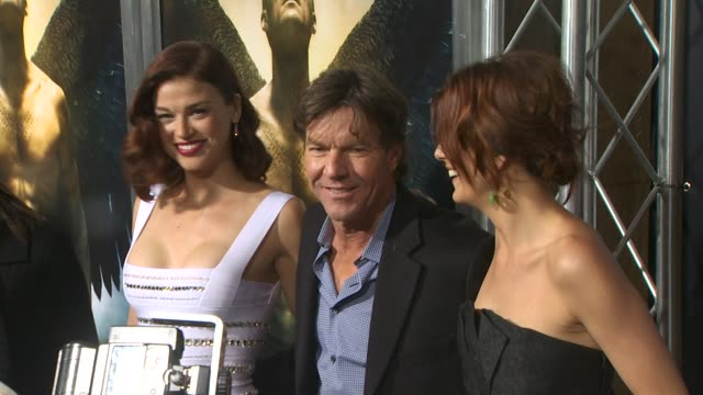 adrianne palicki dennis quaid kate walsh at the 'legion' premiere at hollywood ca - adrianne palicki stock videos and b-roll footage