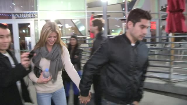 adrianne palicki dj cotrona at arclight in hollywood 01/03/13 - adrianne palicki stock videos and b-roll footage