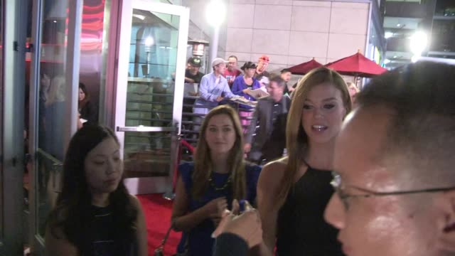 adrianne palicki greets fans at john wick screening in hollywood celebrity sightings in los angeles ca on - adrianne palicki stock videos and b-roll footage