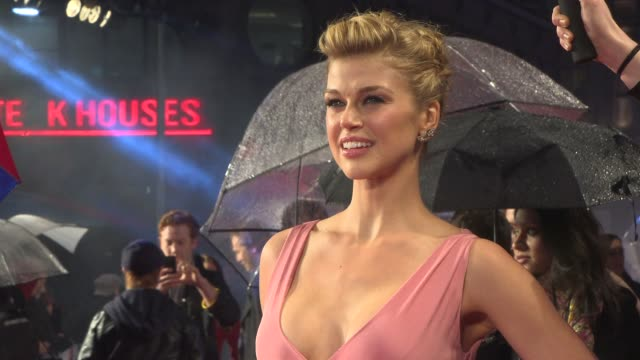 interview adrianne palicki on the training the vanity of the male actors and being the only girl on set at the gi joe retaliation uk premiere on the... - adrianne palicki stock videos and b-roll footage