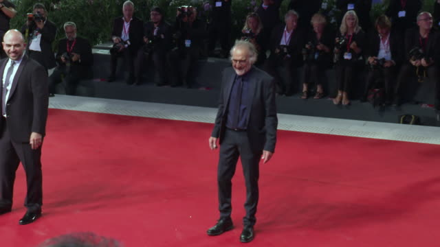 adriano chiaramida at 'zerozerozero' red carpet arrivals 76th venice film festival on september 05 2019 in venice italy - 76th venice film festival 2019点の映像素材/bロール