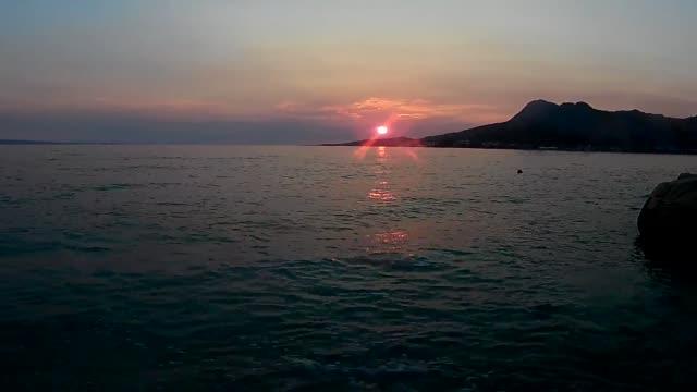 adriatic sea on sunset - adriatic sea stock videos & royalty-free footage