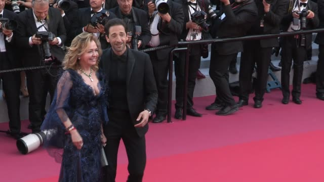 adrien brody and caroline scheufele on the red carpet of the 2018 cannes film festival closing ceremony cannes france 19th may 2018 - adrien brody stock videos and b-roll footage