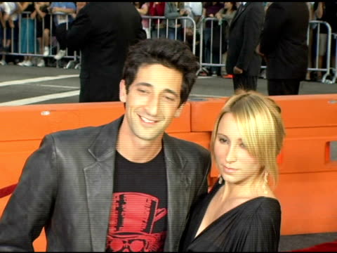 Adrien Brody and guest at the Fan Screening of 'War of the Worlds' at Grauman's Chinese Theatre in Hollywood California on June 27 2005