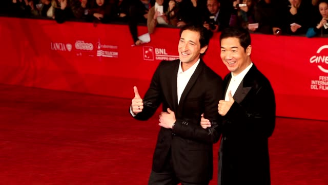 adrien brody and zhang guo li at '1942' premiere: 7th rome film festival at auditorium parco della musica on november 11, 2012 in rome, italy - adrien brody stock videos & royalty-free footage