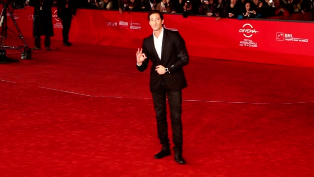 adrien brody at '1942' premiere: 7th rome film festival at auditorium parco della musica on november 11, 2012 in rome, italy - adrien brody stock videos & royalty-free footage