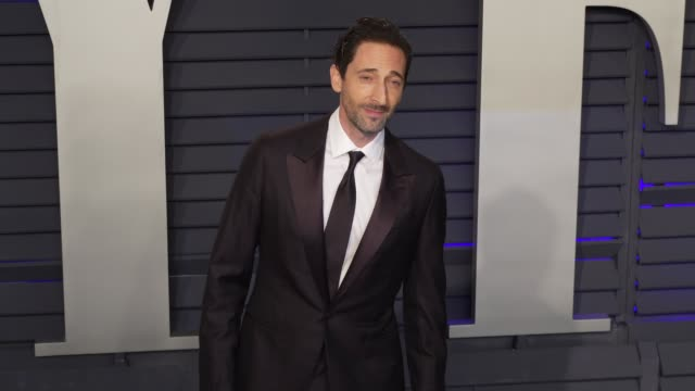 adrien brody at 2019 vanity fair oscar party hosted by radhika jones at wallis annenberg center for the performing arts on february 24, 2019 in... - adrien brody stock videos & royalty-free footage