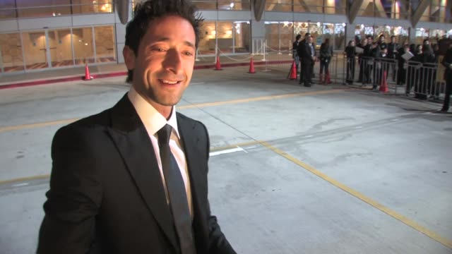 adrien brody at 25th film independent spirit awards. at the celebrity sightings in los angeles at los angeles ca. - adrien brody stock videos & royalty-free footage