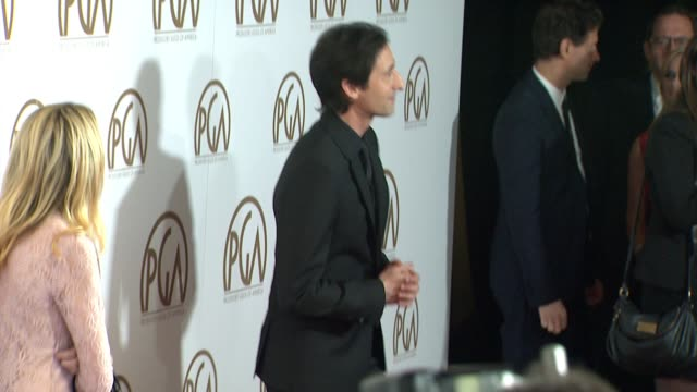 adrien brody at 26th annual producers guild awards in los angeles, ca 1/24/15 - adrien brody stock videos & royalty-free footage