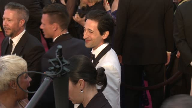 adrien brody at 87th annual academy awards arrivals at dolby theatre on february 22 2015 in hollywood california - adrien brody stock videos and b-roll footage