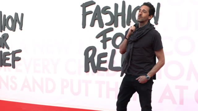 adrien brody at fashion for relief fashion catwalk - the 71st cannes fillm festival at aeroport cannes mandelieu on may 13, 2018 in cannes, france. - カンヌ・マンデリュー空港点の映像素材/bロール