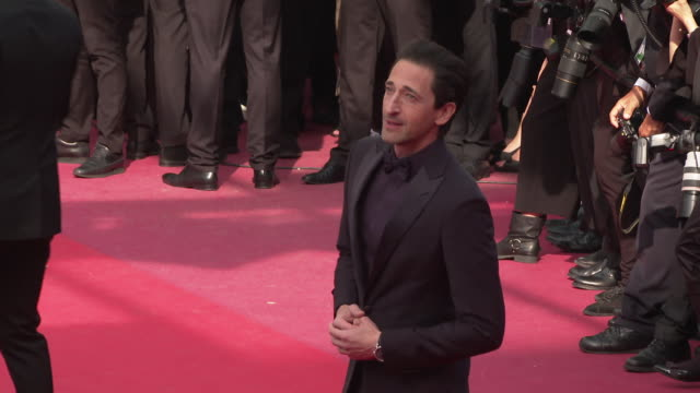 adrien brody at 'once upon a time in hollywood ' red carpet arrivals the 72nd cannes film festival at grand theatre lumiere on may 21 2019 in cannes... - adrien brody stock videos and b-roll footage