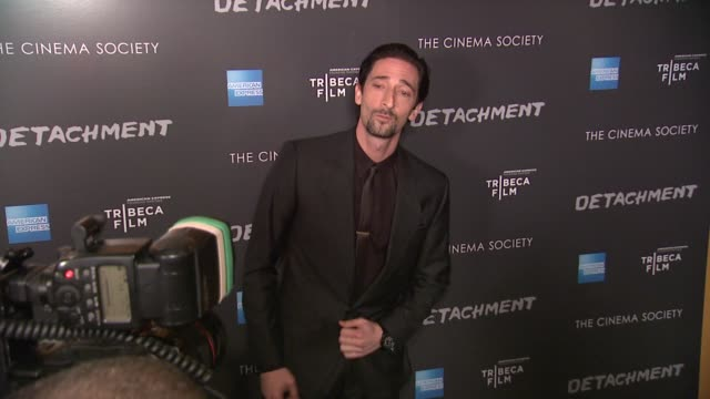 adrien brody at premiere of tribeca film's detachment hosted by american express & the cinema society on 3/13/2012 in new york, ny, united states. - adrien brody stock videos & royalty-free footage