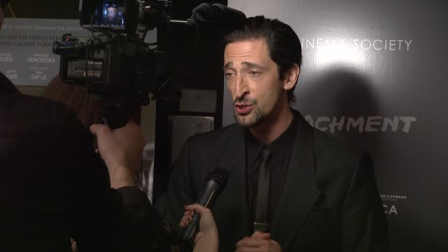 adrien brody at premiere of tribeca film's detachment hosted by american express the cinema society on 3/13/2012 in new york ny united states - adrien brody stock videos and b-roll footage