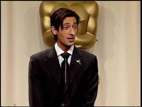 adrien brody at the 2003 academy awards at the kodak theatre in hollywood, california on march 23, 2003. - adrien brody stock videos & royalty-free footage