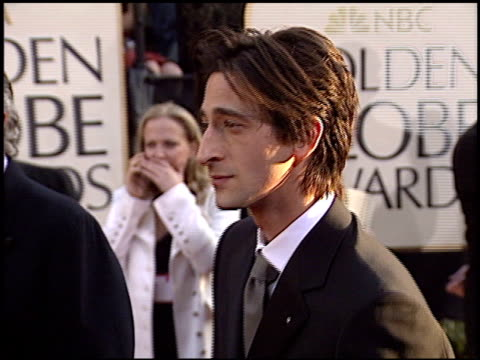 Adrien Brody at the 2003 Golden Globe Awards at the Beverly Hilton in Beverly Hills California on January 19 2003