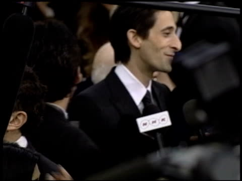 adrien brody at the 2004 academy awards arrivals at the kodak theatre in hollywood, california on february 29, 2004. - adrien brody stock videos & royalty-free footage