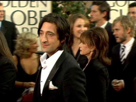 adrien brody at the 2006 golden globe awards arrivals at the beverly hilton in beverly hills, california on january 16, 2006. - adrien brody stock videos & royalty-free footage