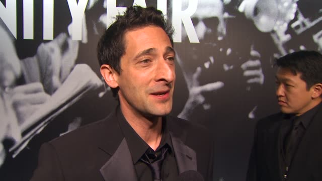 adrien brody at the 2010 vanity fair oscar party hosted by graydon carter at west hollywood ca - graydon carter stock videos and b-roll footage