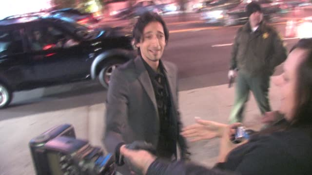 adrien brody at the 2011 vanity fair oscar party at sunset tower in west hollywood at the celebrity sightings in los angeles at los angeles ca. - oscar party stock videos & royalty-free footage