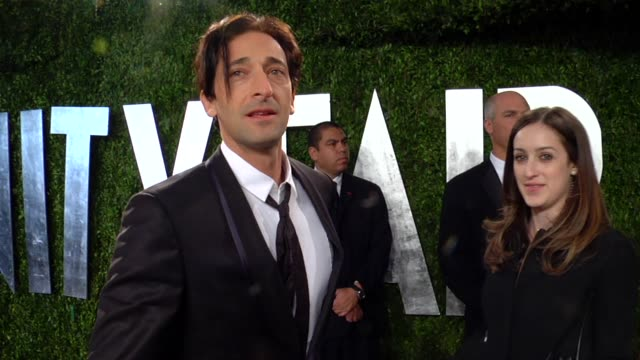 adrien brody at the 2013 vanity fair oscar party hosted by graydon carter adrien brody at the 2013 vanity fair oscar party at sunset tower on... - adrien brody stock videos and b-roll footage