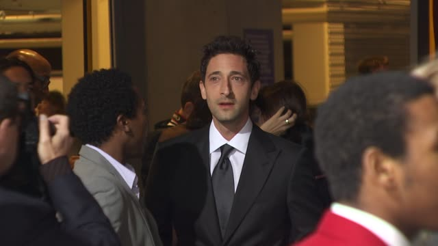 adrien brody at the 25th independent spirit awards hosted by jameson irish whiskey at los angeles ca - adrien brody stock videos and b-roll footage