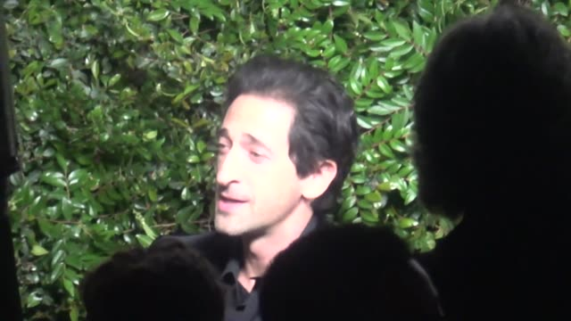 Adrien Brody at the Charles Finch and Chanel PreAcademy Awards dinner at Madeo in Beverly Hills at Celebrity Sightings in Los Angeles on March 03...