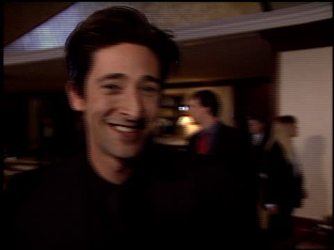 adrien brody at the dga director's guild of america awards at the century plaza hotel in century city, california on march 2, 2003. - century plaza stock videos & royalty-free footage