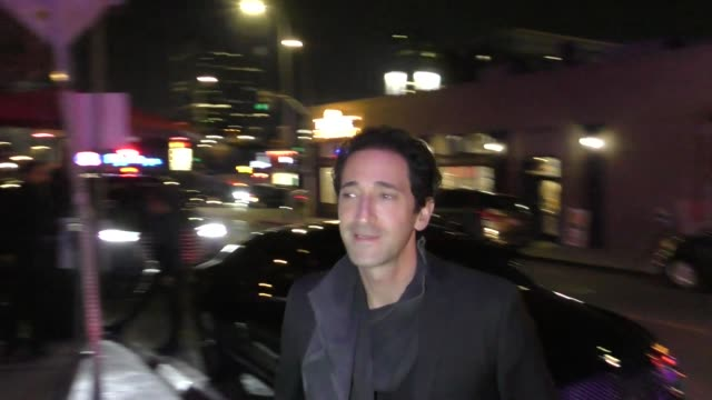 adrien brody at the fred hollows foundation inaugural gala dinner in hollywood in celebrity sightings in los angeles, - adrien brody stock videos & royalty-free footage